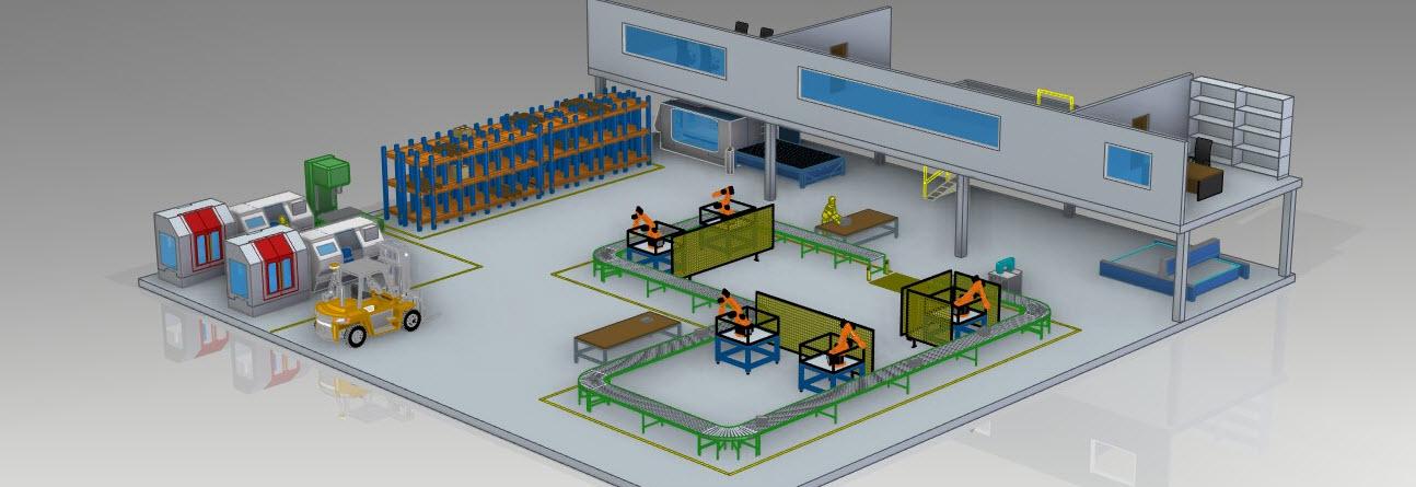 Gyár 3D CAD modell