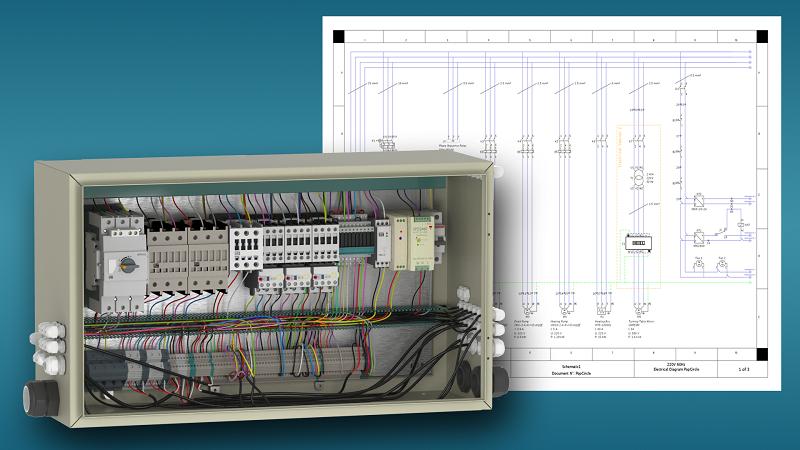 Solid Edge 2021 Wiring Design render