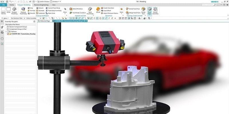 NX 3D-s test szkennelés