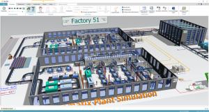 Plant Simulation gyártási folyamatszimuláció