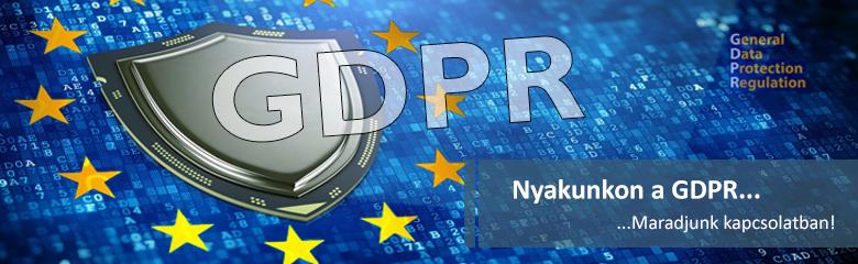 GDPR Hírlevél Feliratkozás banner